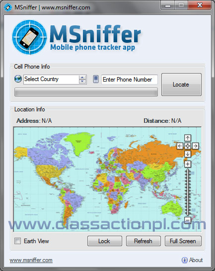 MSniffer Cell Phone Tracker Overview - Locate cell number on map